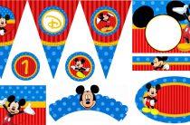 Микки Маус в синем и красном