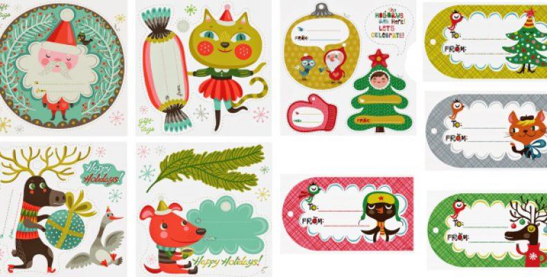 Новогодние открытки и теги