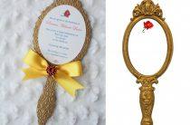 Приглашение-зеркальце Красавицы