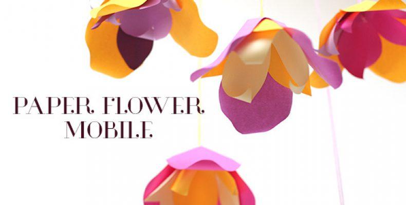 МК: мобиль с цветами