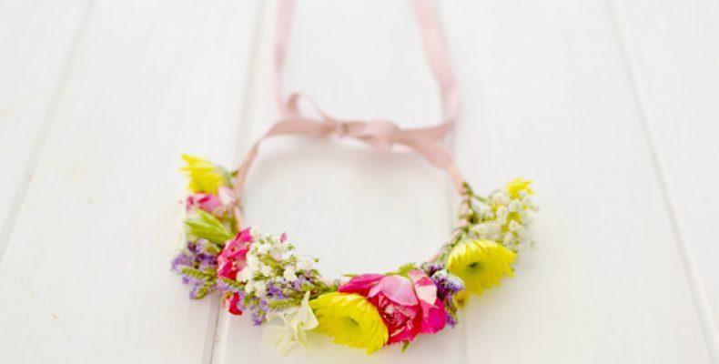 МК: венок из живых цветов