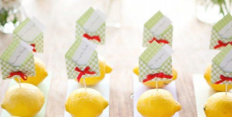 Лимонно-лаймовая свадебная фотосессия