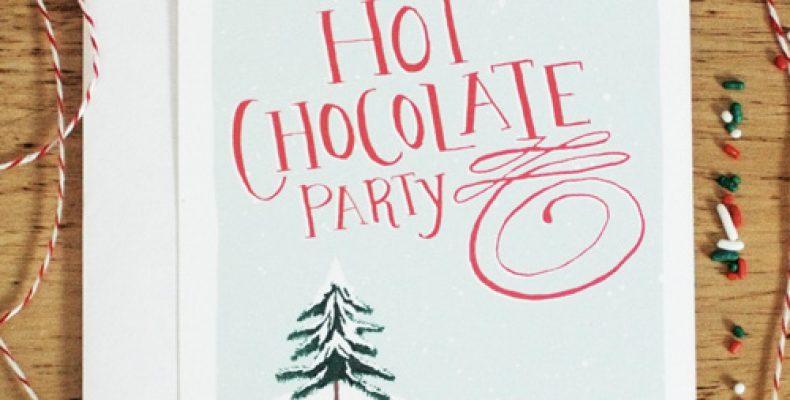 Зимняя вечеринка «Горячий шоколад»