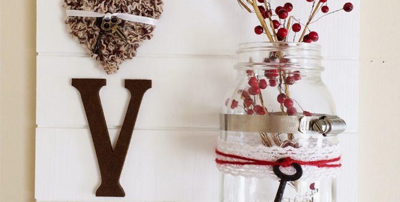 МК: декоративное панно ко дню св. Валентина