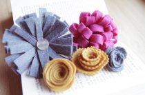 МК: цветы из фетра