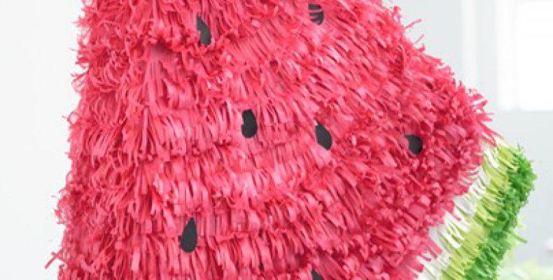 МК: пиньята — арбузный ломтик