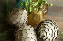 Декоративные шишки из бумаги