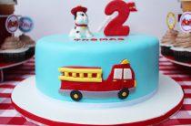 День рождения маленького пожарного