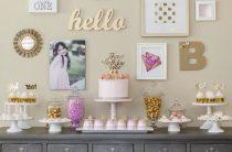 Розово-золотой день рождения