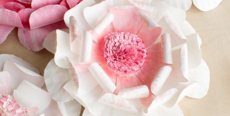 МК: цветы из бумажных тарелок