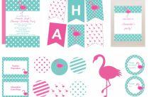 Набор для декора: Фламинго