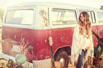 Happy hippie