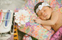 Фотосессия новорожденной в стиле хиппи