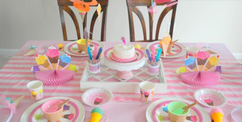 День рождения «Любимое мороженное» + МК