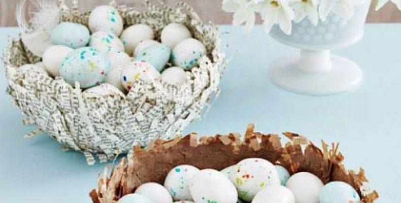 МК: «гнездо» для пасхальных яиц