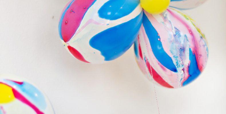 Цветок из воздушных шариков