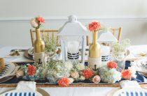 Праздничный стол в морском стиле