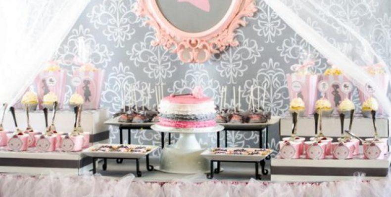 Серо-розовый Baby Shower
