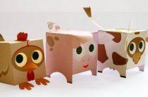Домашние животные из бумаги