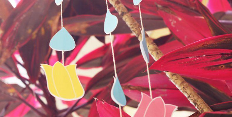 МК: поделка с детьми «Летний дождь»