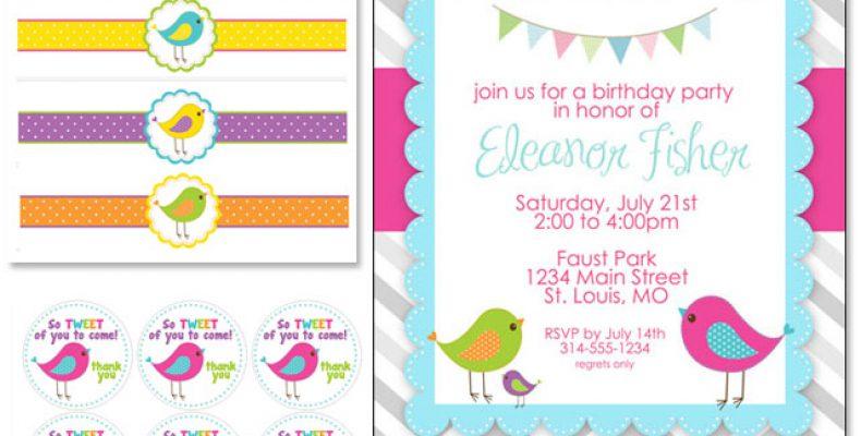 Free printables — набор для декора дня рождения «Маленькая птичка»