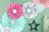 МК: гирлянда из бумажных круговых вееров