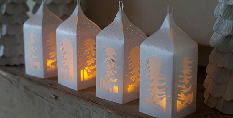 Новогодние фонарики: распечатай и вырежи