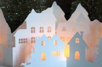 Бумажный зимний городок: распечатай и вырежи