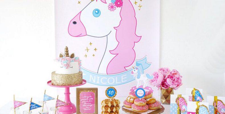 Розовый единорог: пижамная вечеринка