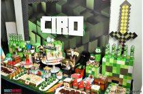 День рождения в стиле Minecraft + Free Prinables