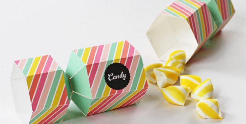 Подарочная упаковка-конфетка