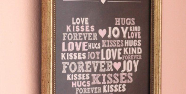 Постер ко Дню св. Валентина