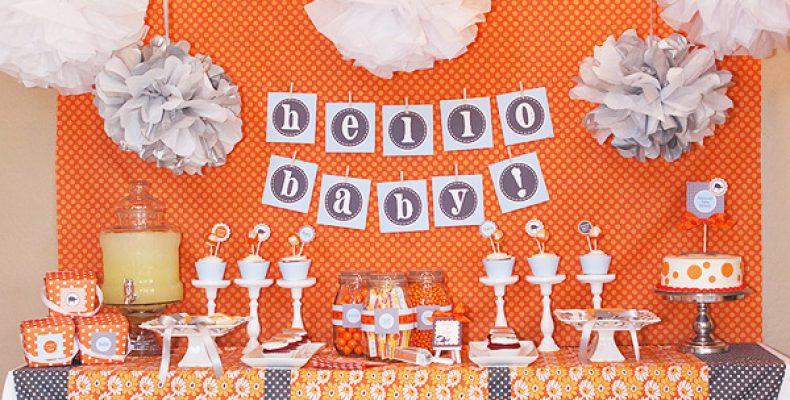Baby Shower: слоны и алфавит