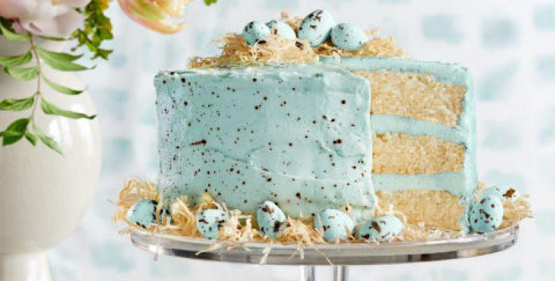 Голубой пасхальный торт