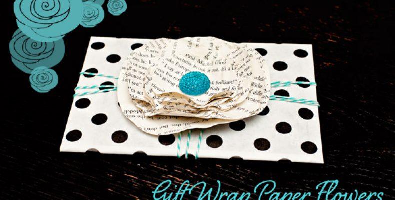 МК: бумажный цветок для подарочной упаковки