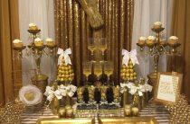 Новогодняя вечеринка с золотым блеском