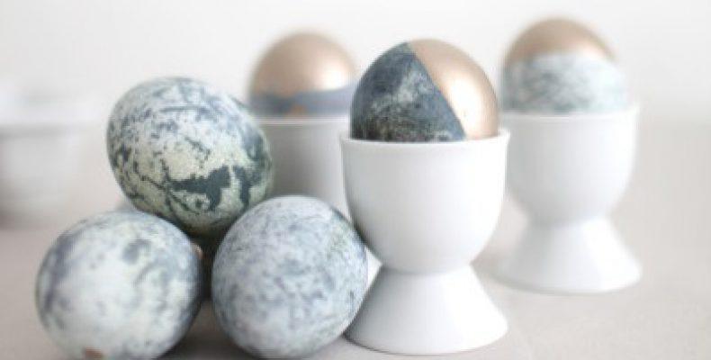 МК пасхальные яйца: мрамор и золото