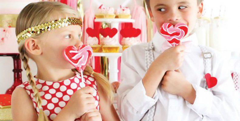 Candy bar и детская фотосессия ко дню св. Валентина