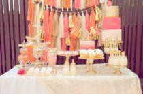 Candy bar: оттенки розового с золотом