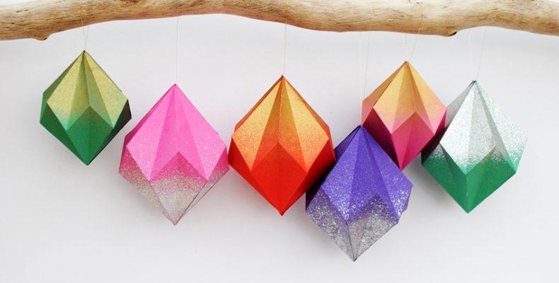 Бумажные новогодние шарики своими руками