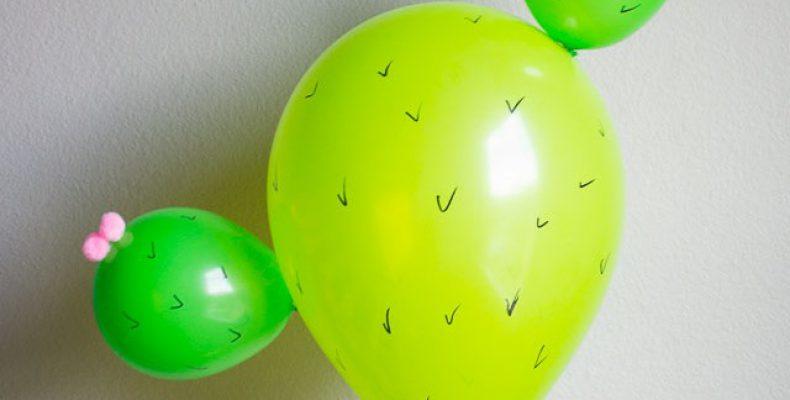 МК: кактус из воздушных шариков