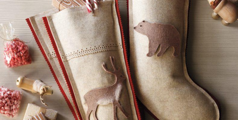 МК: носок для новогодних подарков